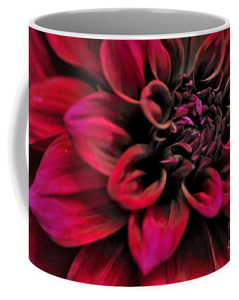 Photography Coffee Mug featuring the photograph Shades Of Red - Dahlia by Kaye Menner