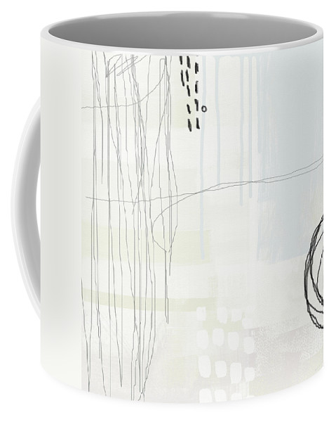 Abstract Coffee Mug featuring the painting Shades Of White 1 - Art By Linda Woods by Linda Woods
