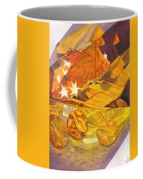Prism Coffee Mug featuring the painting Shades Of Yellow by Catherine G McElroy