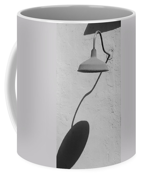 Black And White Coffee Mug featuring the photograph Shadow Lamp by Rob Hans