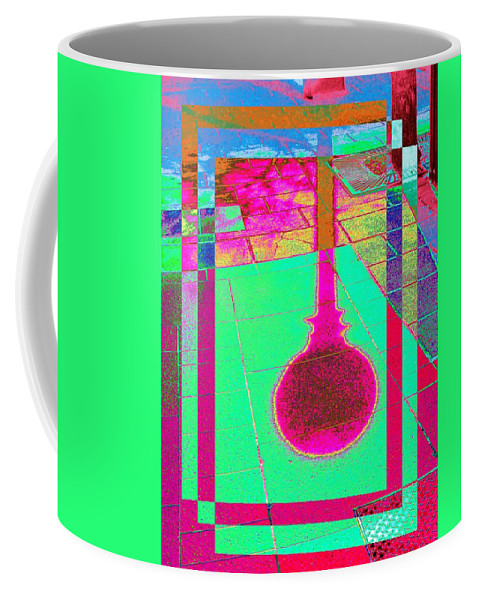 Abstract Coffee Mug featuring the digital art Shadow Play 2 by Tim Allen