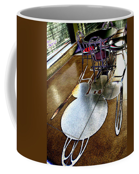 Shadow Coffee Mug featuring the photograph Shadow Play by Tim Allen