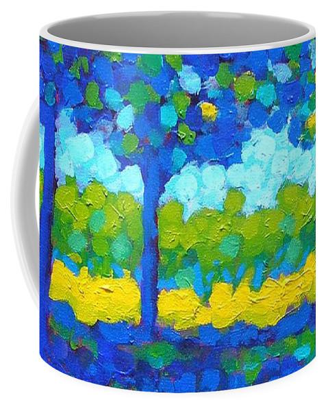 Irish Landscape Coffee Mug featuring the painting Shadow Trees by John Nolan