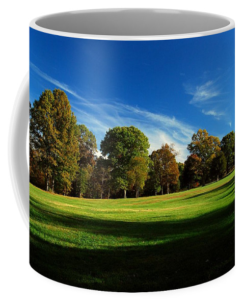 Fields Coffee Mug featuring the photograph Shadows And Trees Of The Afternoon - Monmouth Battlefield Park by Angie Tirado