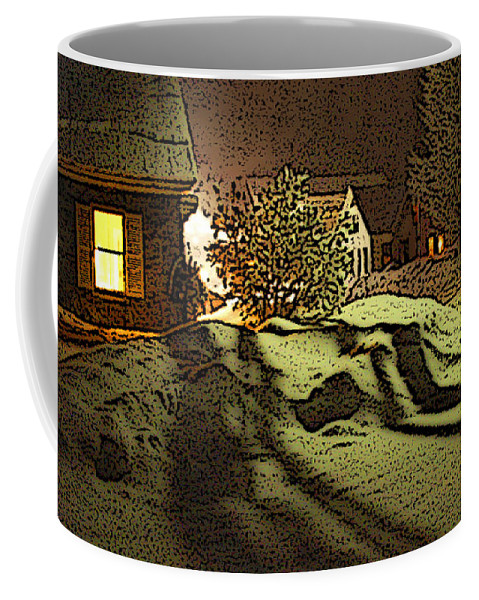 Vermont Coffee Mug featuring the photograph Shadows Of Winters Night by Nancy Griswold