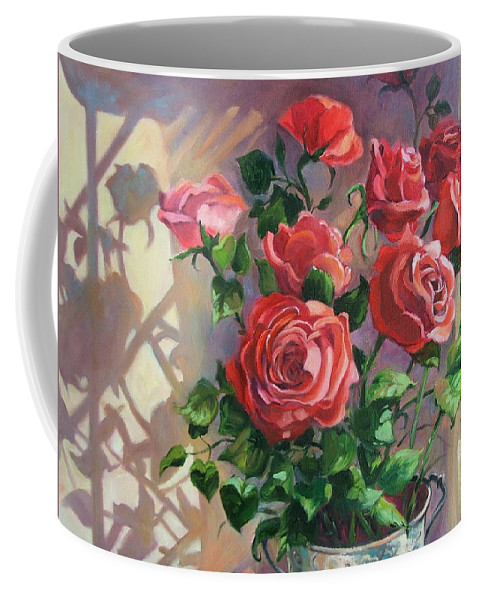 Oil Painting Coffee Mug featuring the painting Shadows On The Wall by Dianna Willman
