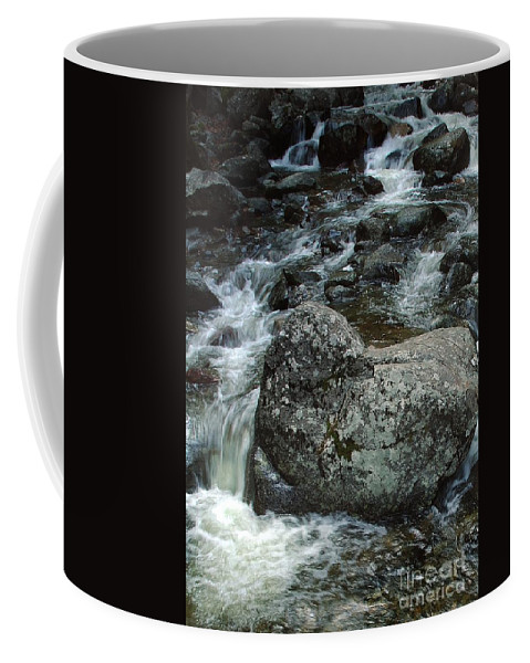 California Scenes Coffee Mug featuring the photograph Shady Stream Boulder by Norman Andrus