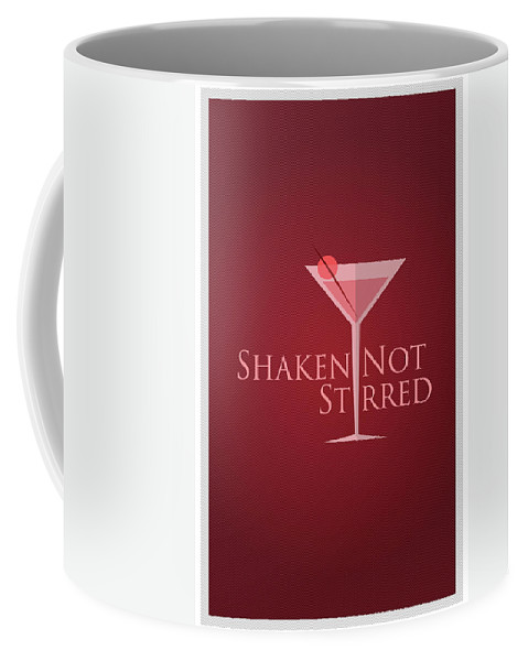Coffee Mug featuring the digital art Shaken Not Stirred by Purbawa ART