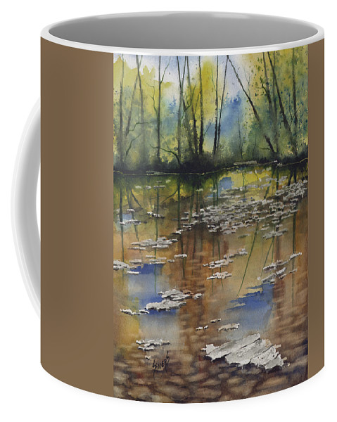 Stream Coffee Mug featuring the painting Shallow Water by Sam Sidders