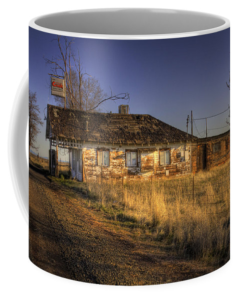 Coffee Mug featuring the photograph Shaniko Oregon 2 by Lee Santa