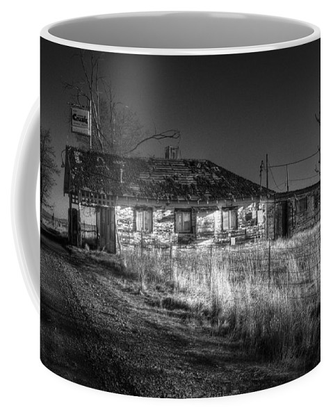 Landscape Coffee Mug featuring the photograph Shaniko Past by Lee Santa