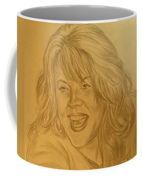 Portrait Coffee Mug featuring the drawing Shannon by Bryan Bustard