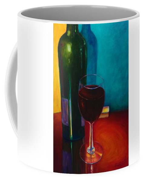 Wine Bottle Coffee Mug featuring the painting Shannon's Red by Shannon Grissom