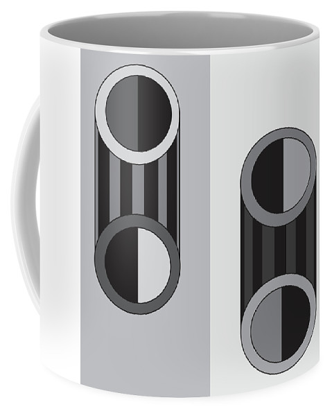 Illustration Coffee Mug featuring the drawing Shapeplay60 by Maggie Mijares
