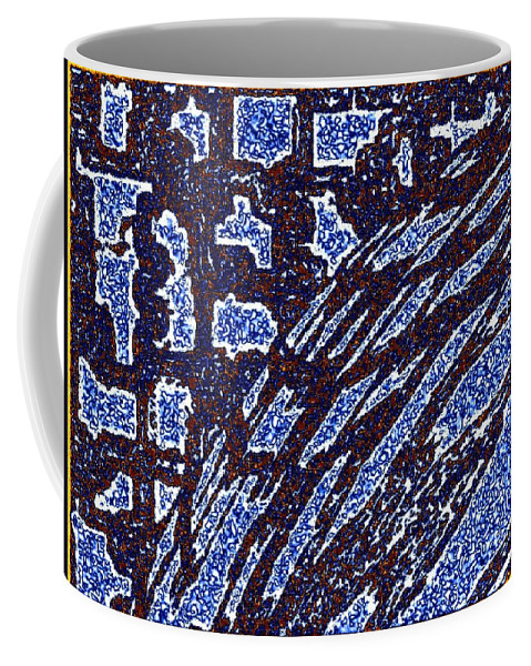 Abstract Coffee Mug featuring the digital art Shards And Pieces by Will Borden