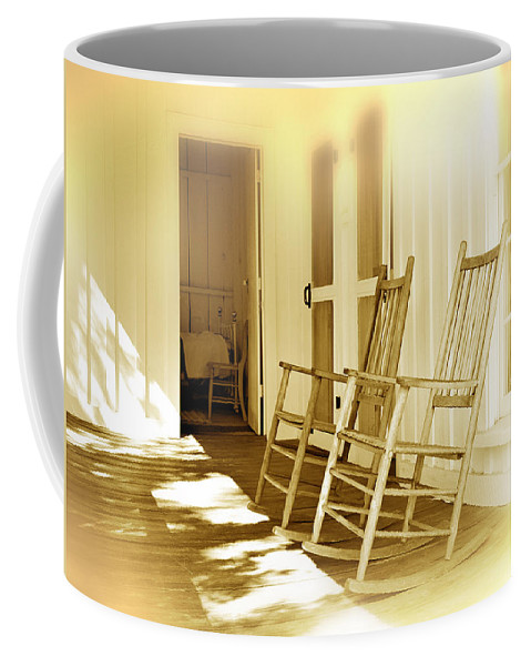Porch Coffee Mug featuring the photograph Shared Moments by Mal Bray