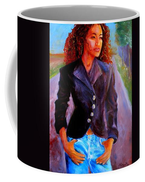 Acrylic Coffee Mug featuring the painting Sharice by Jason Reinhardt