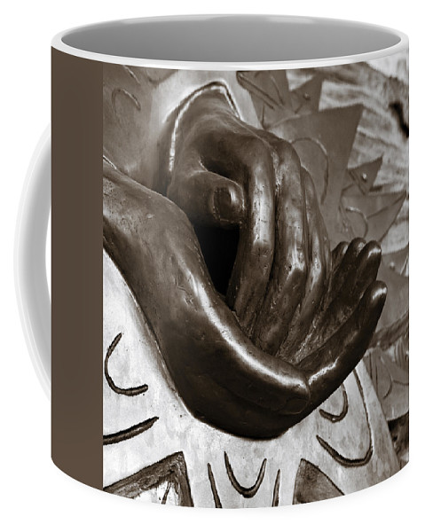 Hands Coffee Mug featuring the photograph Sharing Hands by Marilyn Hunt
