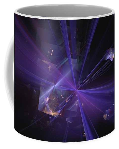 Abstract Digital Painting Coffee Mug featuring the digital art Shattered by David Lane