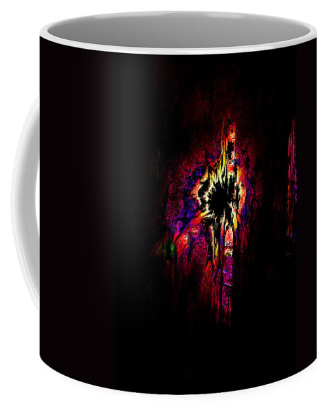 Abstract Coffee Mug featuring the digital art Shattered Dreams by Rachel Christine Nowicki