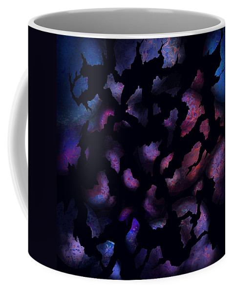 Abstract Coffee Mug featuring the digital art Shattered Perceptions by Rachel Christine Nowicki