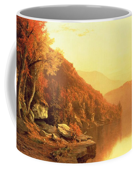 Shawanagunk Mountains Coffee Mug featuring the painting Shawanagunk Mountains by Jervis McEntee