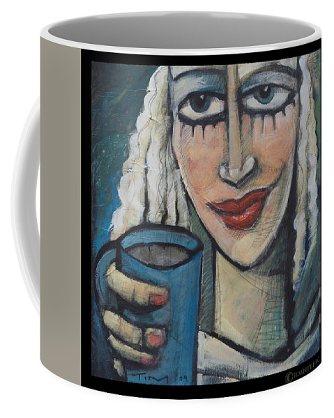 Pleasant Coffee Mug featuring the painting She Had Some Dreams... by Tim Nyberg