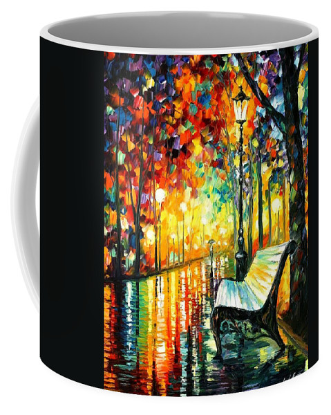 Afremov Coffee Mug featuring the painting She Left by Leonid Afremov