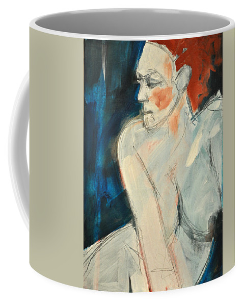 Nude Coffee Mug featuring the painting She Wakes by Tim Nyberg