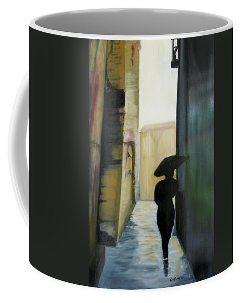 Woman Walking Coffee Mug featuring the painting She Walks by Kim Rahal