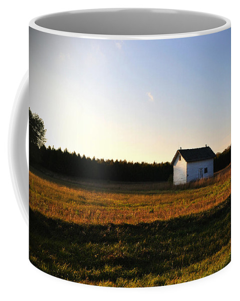 Fall Coffee Mug featuring the photograph Shed by Tim Nyberg