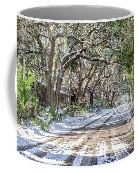 Chisolm Coffee Mug featuring the photograph Sheep Farm - Snow by Scott Hansen
