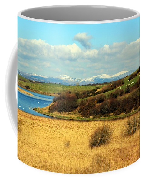 Ireland Coffee Mug featuring the photograph Sheep On The Hillside by Jennifer Robin