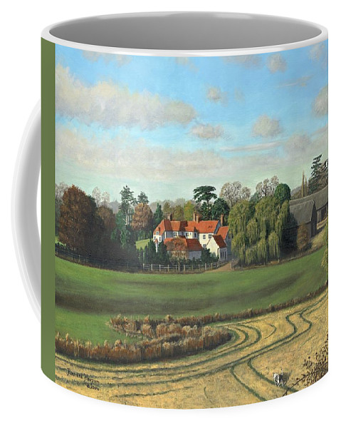 Landscape Coffee Mug featuring the painting Sheering Hall Near Harlow Essex by Richard Harpum