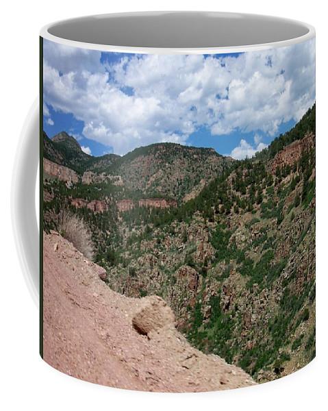 Shelf Road Coffee Mug featuring the photograph Shelf Road Drop Off by Anita Burgermeister