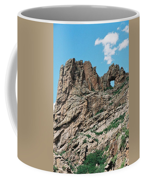Shelf Road Coffee Mug featuring the photograph Shelf Road Rock Formations by Anita Burgermeister