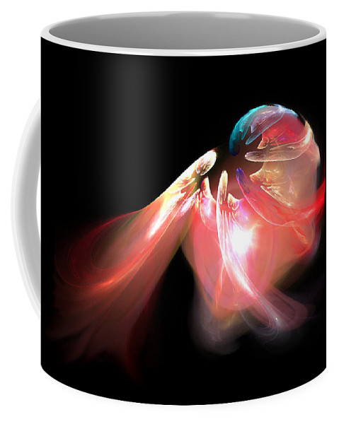 Shell Coffee Mug featuring the digital art Shell by Brainwave Pictures