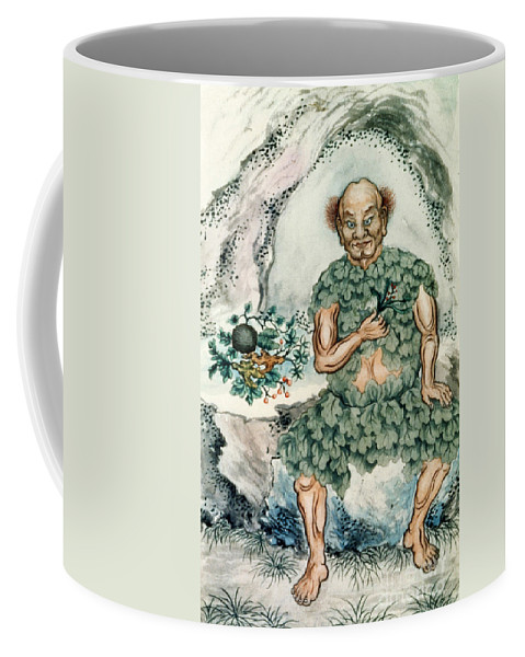 Medical Coffee Mug featuring the photograph Shennong, Chinese God Of Medicine by Wellcome Images