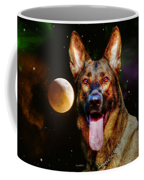 Moon Coffee Mug featuring the photograph Shepards Moon by Ericamaxine Price