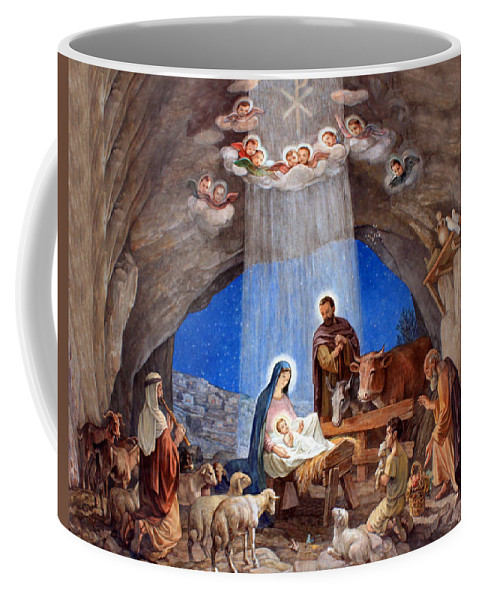 Photo Coffee Mug featuring the photograph Shepherds Field Nativity Painting by Munir Alawi