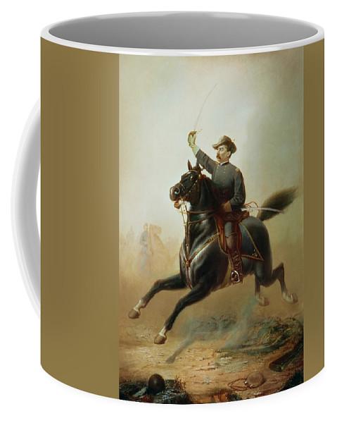 Sheridan Coffee Mug featuring the painting Sheridan's Ride by Thomas Buchanan Read