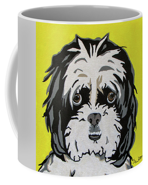Shih Tzu Coffee Mug featuring the painting Shih Tzu by Slade Roberts