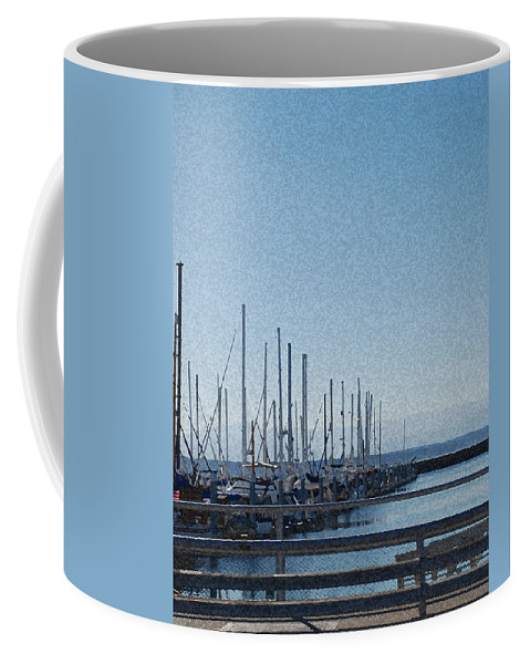 Sailboats Coffee Mug featuring the photograph Shilshole Bay Marina 2010 by Carol Eliassen
