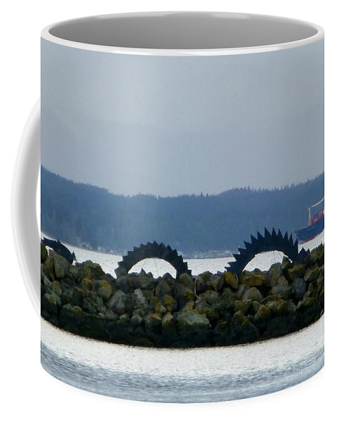 Sea Serpent Coffee Mug featuring the photograph Shilshole Sea Serpent by As the Dinosaur Flies Photography