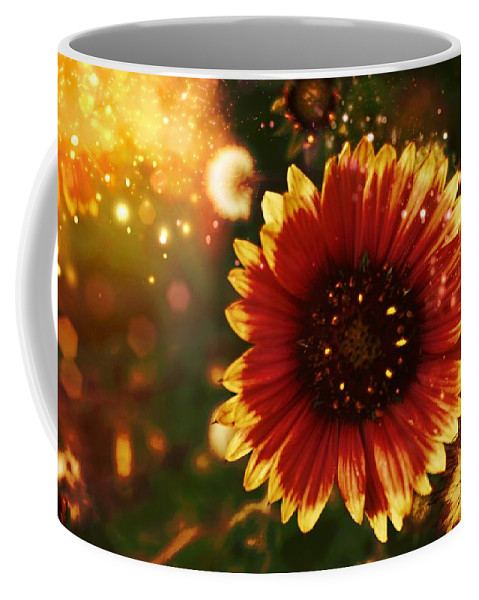 Floral Design Coffee Mug featuring the photograph Shimer Of Fall by Chrissy Huett