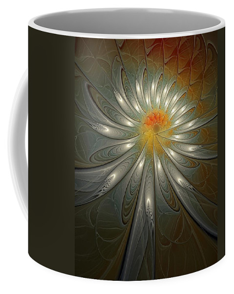 Digital Art Coffee Mug featuring the digital art Shimmer by Amanda Moore
