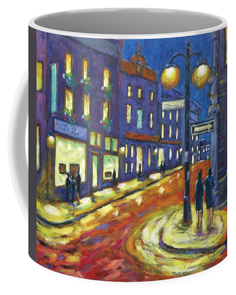 Night Coffee Mug featuring the painting Shimmering Night by Richard T Pranke