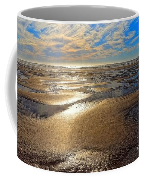 Beach Coffee Mug featuring the photograph Shimmering Sands by Lauren Leigh Hunter Fine Art Photography