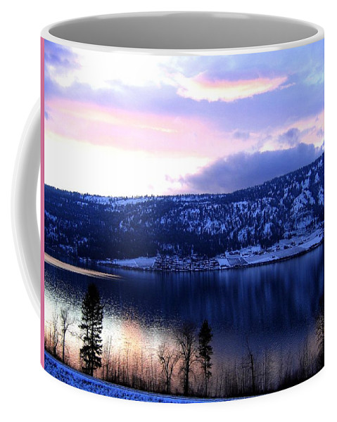 Sunset Coffee Mug featuring the photograph Shimmering Wood Lake by Will Borden