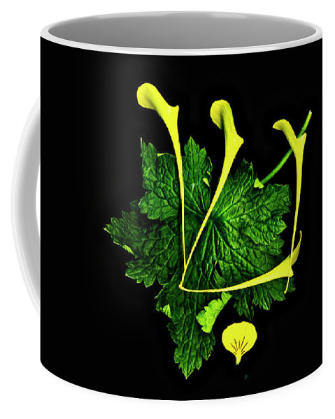 Shin Coffee Mug featuring the digital art Shin - First Hebrew Letter Of Shalom by Sterling Haidt